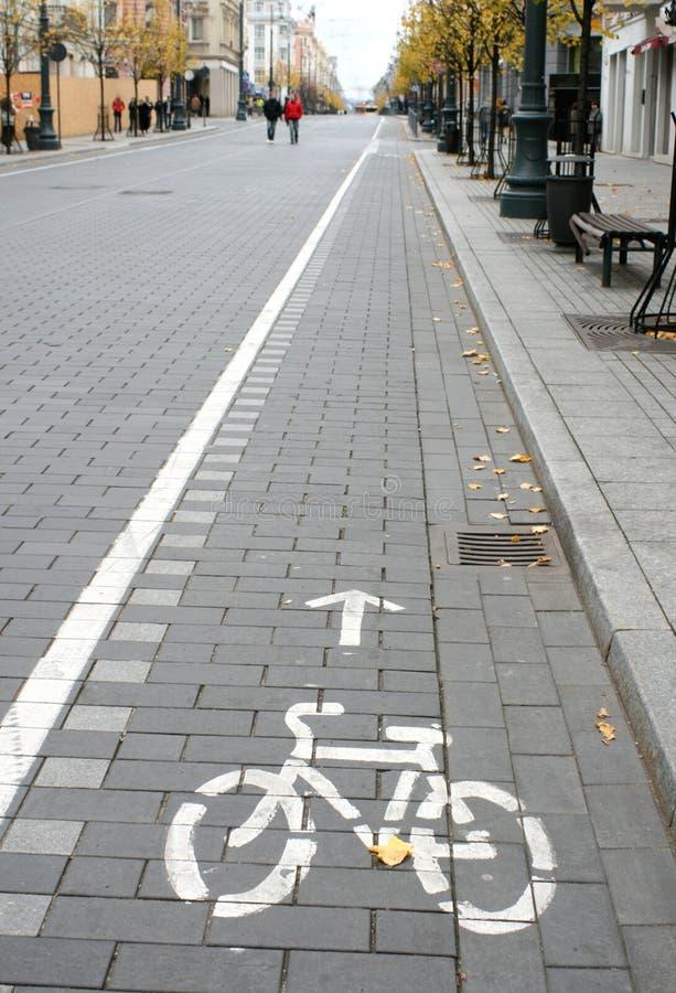 trasa rowerowy znak zdjęcia stock