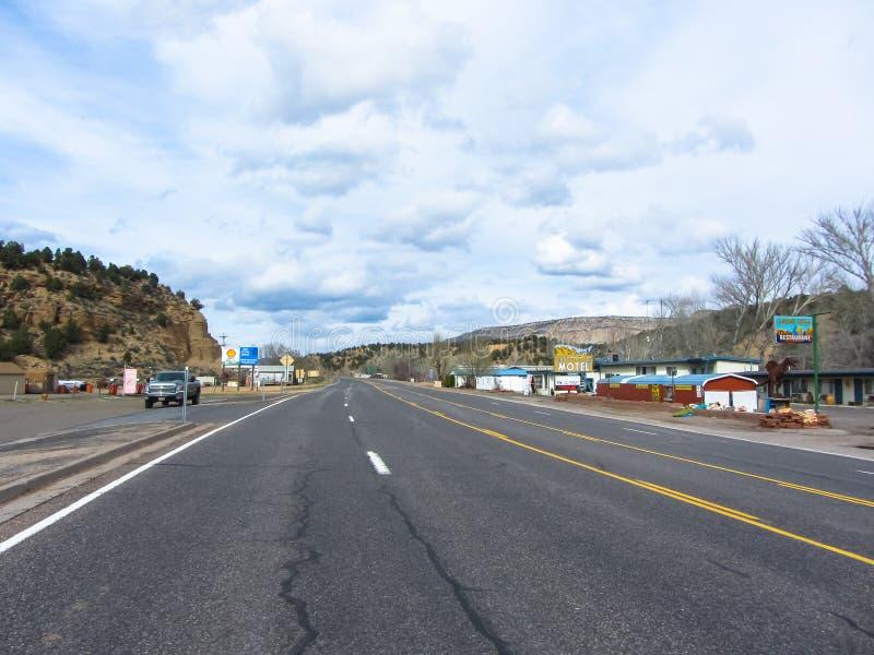 Trasa 66 w Arizona USA Wiosna 2015 obraz stock