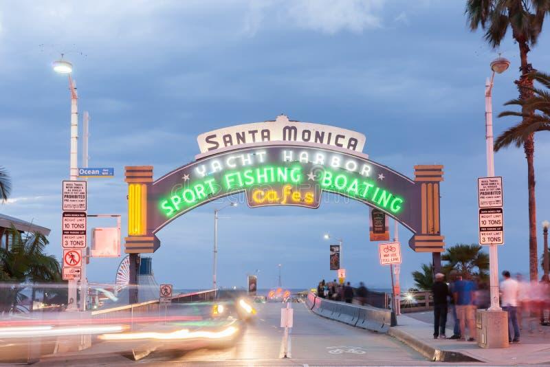 Trasa 66 zachodni koniec, Snata Monica molo, Los Angeles, Kalifornia zdjęcie royalty free