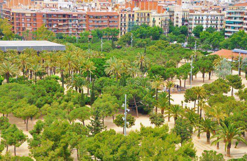 Trascuratezza dell'uno dei parchi di Barcellona fotografie stock