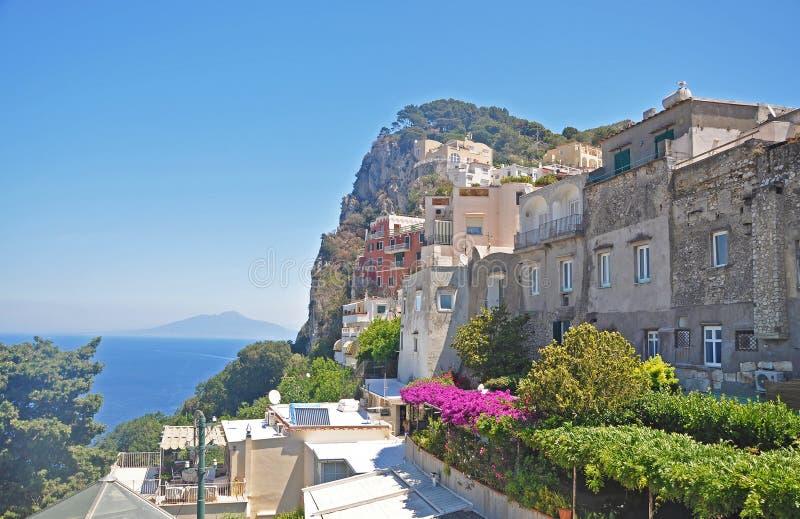 Trascuratezza della città di Capri sull'isola italiana di Capri fotografie stock