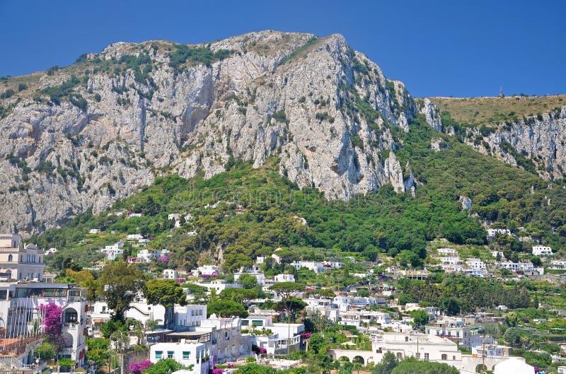 Trascuratezza della città di Capri sull'isola italiana di Capri fotografia stock