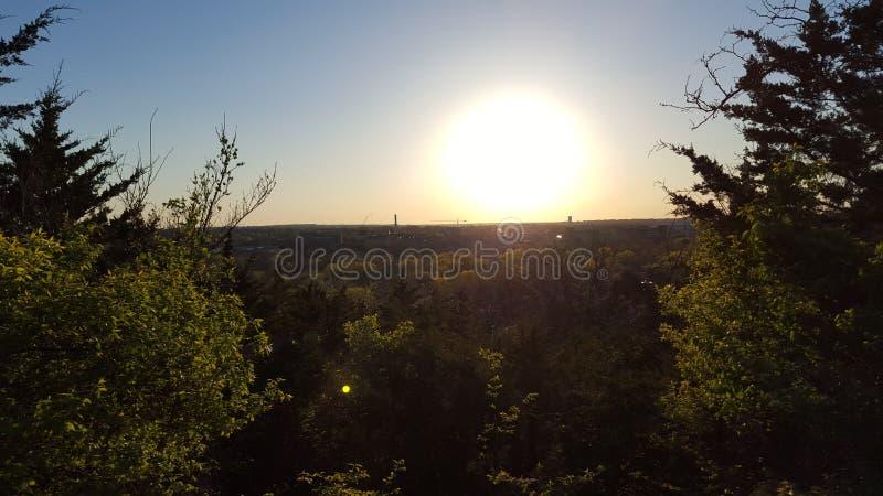 Trascuratezza di tramonto immagine stock