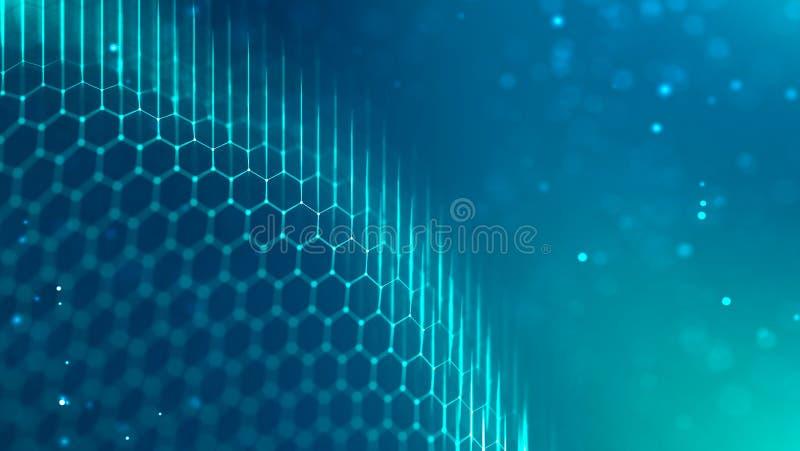 Trasferimento a catena del blocco e concetto di investimento di finanza Cambio di Digital Fondo di tecnologia di dati collegament illustrazione vettoriale
