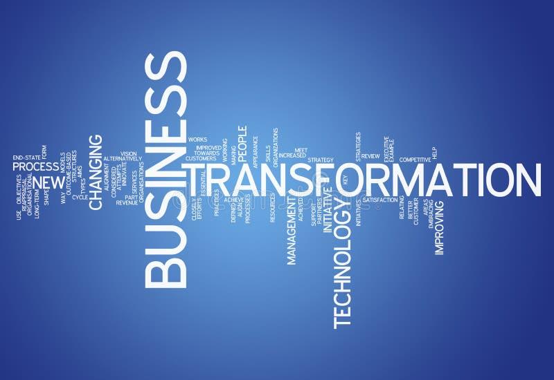 Trasformazione di affari della nuvola di parola illustrazione di stock