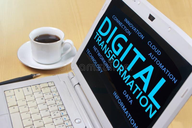 Trasformazione di Digital, concetto di citazioni di parole immagini stock