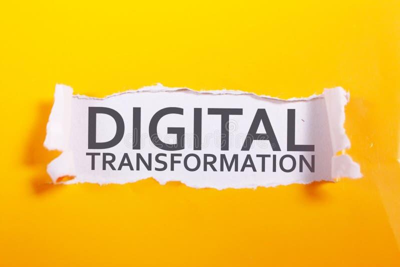 Trasformazione di Digital, concetto di citazioni di parole fotografia stock