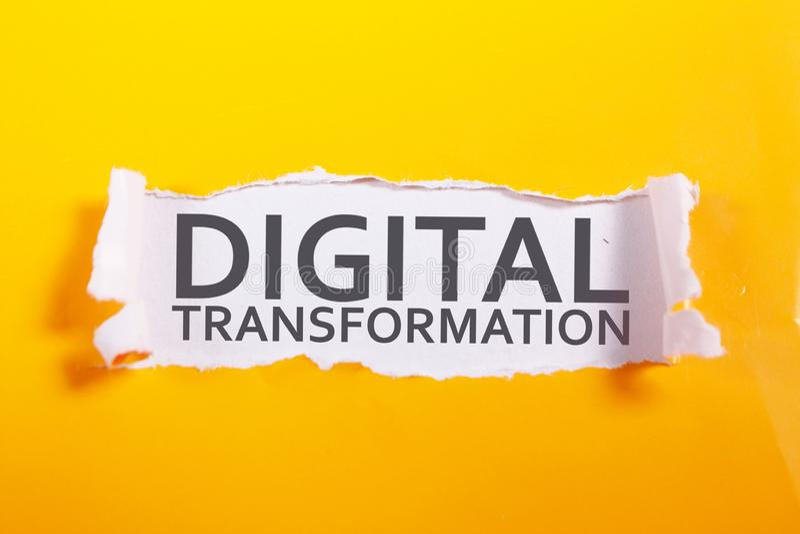 Trasformazione di Digital, concetto di citazioni di parole immagine stock libera da diritti