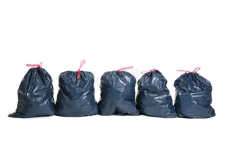 Trash bags stock images