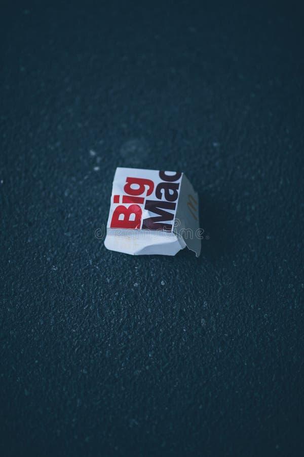 Trash Big Mac royalty free stock images