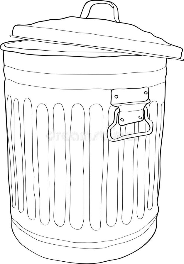 Download Trash bin stock vector. Image of push, recycle, isolate - 16738140