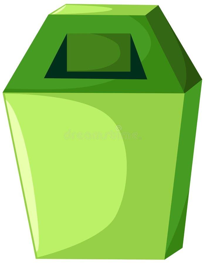 Trash bin stock illustration