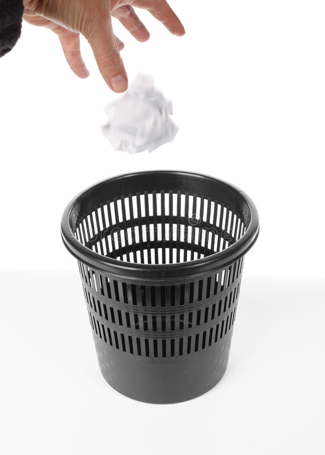 Download Trash bin stock image. Image of isolated, failure, color - 8204119
