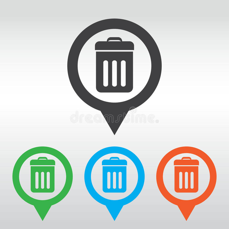 Free Trash Bin Icon . Eps 10, Icon Map Pin Stock Images - 55004854