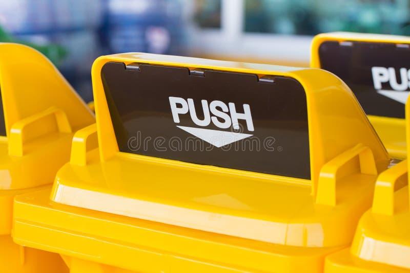Trash bin or recycle bin. stock photo