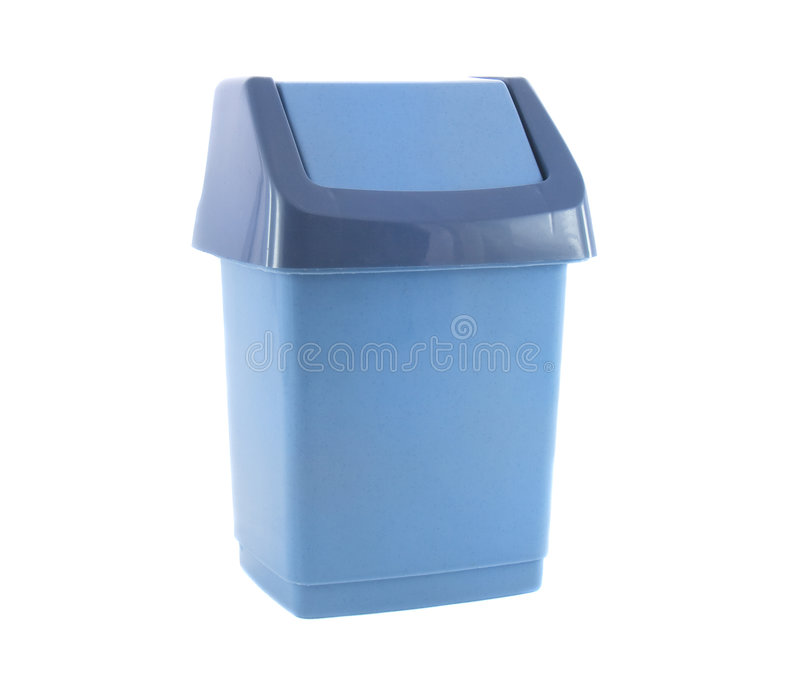 Trash Blue Container For Garbage Stock Photos