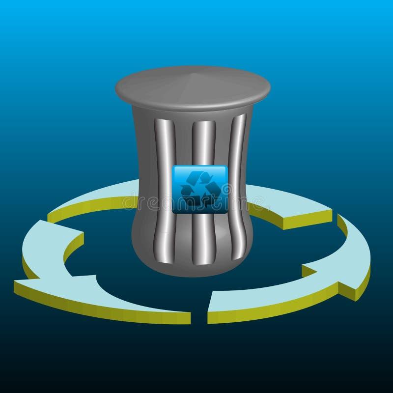 Download Trash can stock illustration. Image of illustration, divide - 7011185