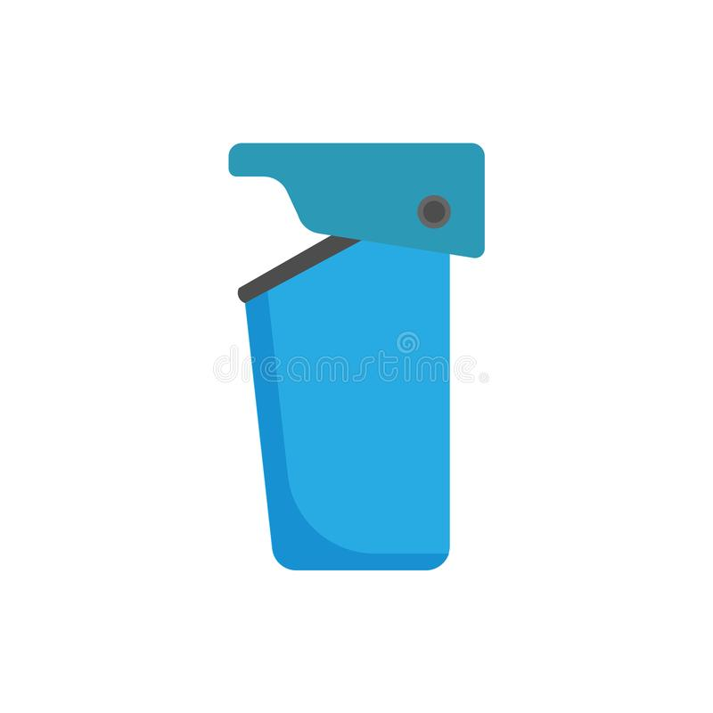 Trash can bin ecology environmental object vector. Reuse urban garbage icon recycle royalty free illustration