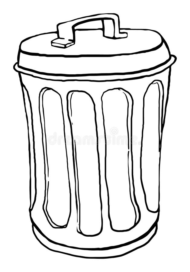 Trash can stock vector. Illustration of litter, container ...