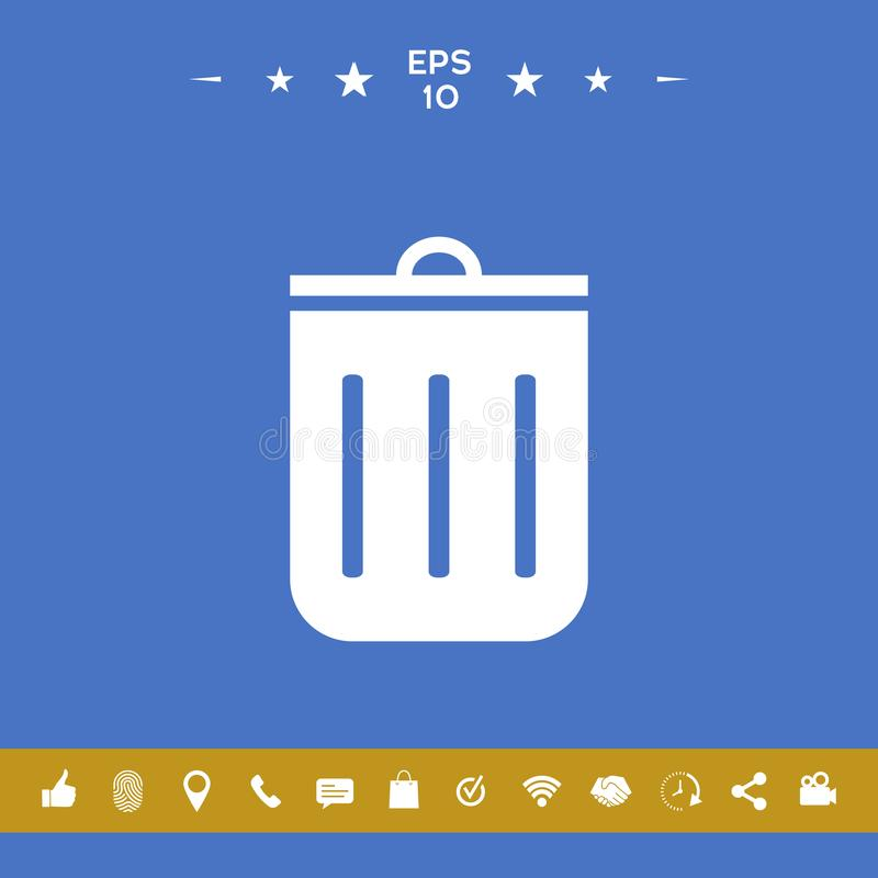 Trash can icon stock illustration