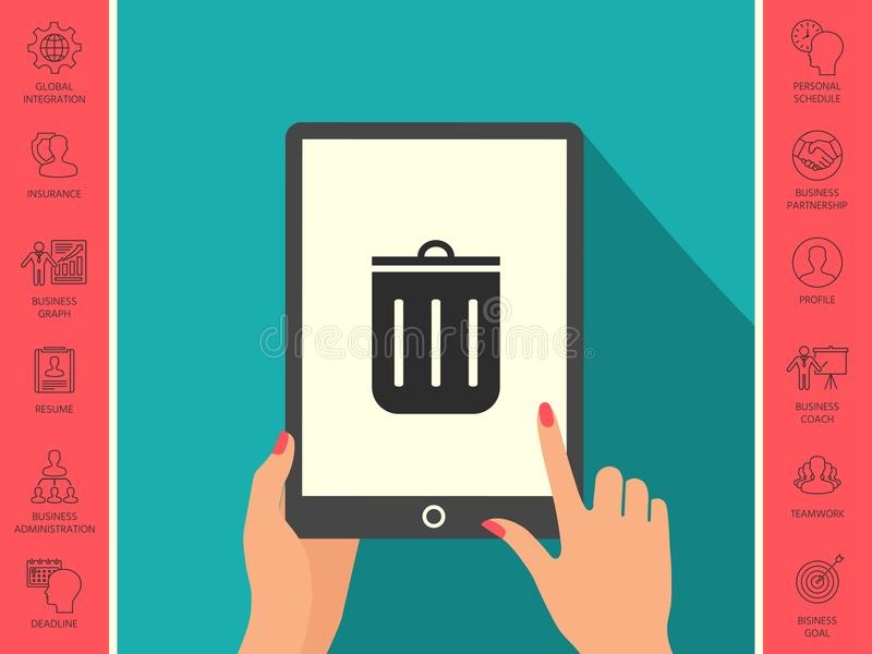 Trash can icon royalty free illustration