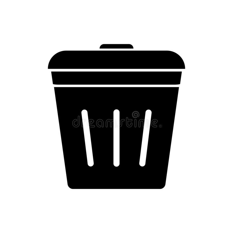 Trash can icon vector, bin sign, delete symbol isolate on white background for graphic design, logo, web site, social media, stock illustration