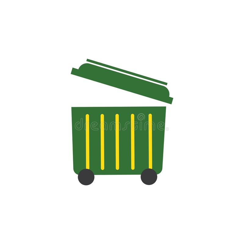 trash can icon vector illustration stock illustration