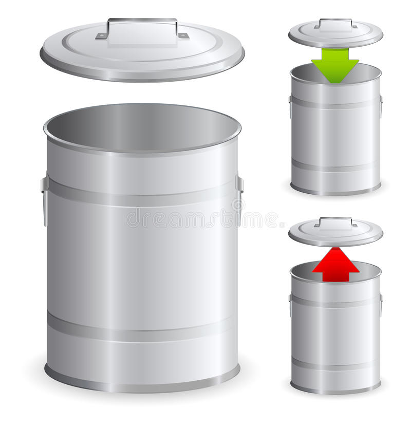Trash can icons vector illustration
