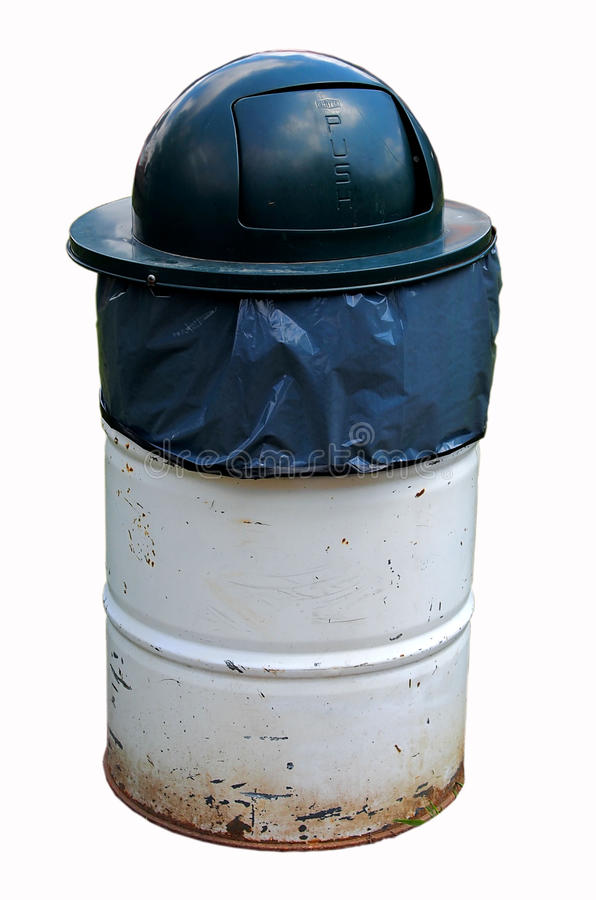 Trash can isolated royalty free stock image