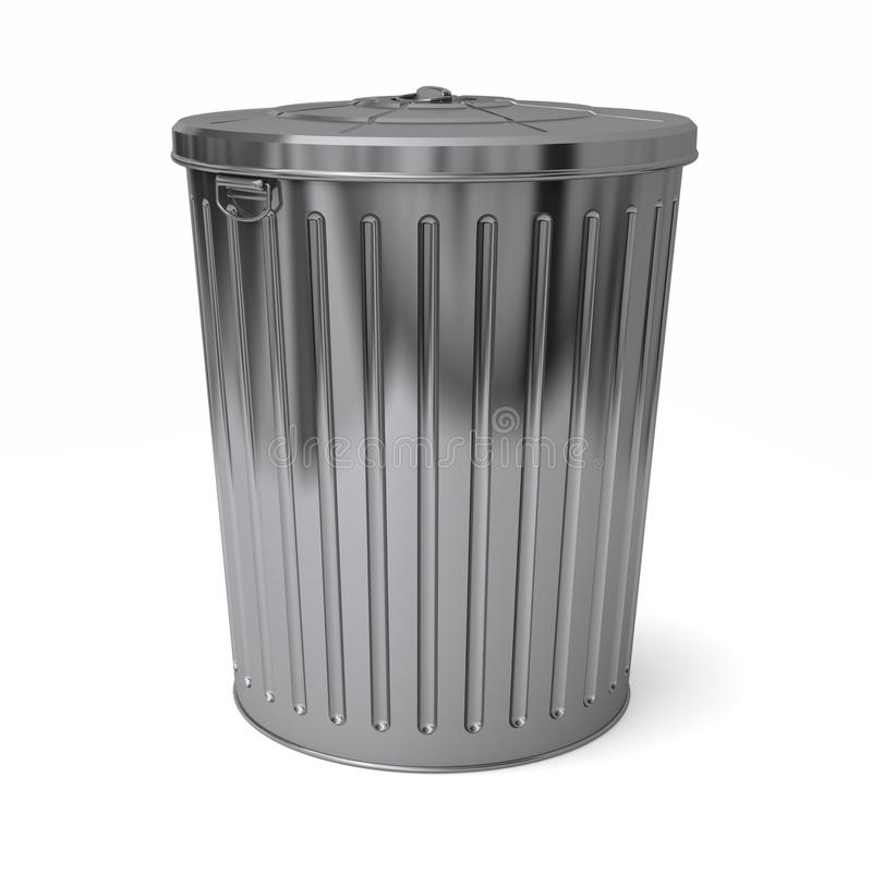 Download Trash can lid on stock illustration. Image of silver - 13528130