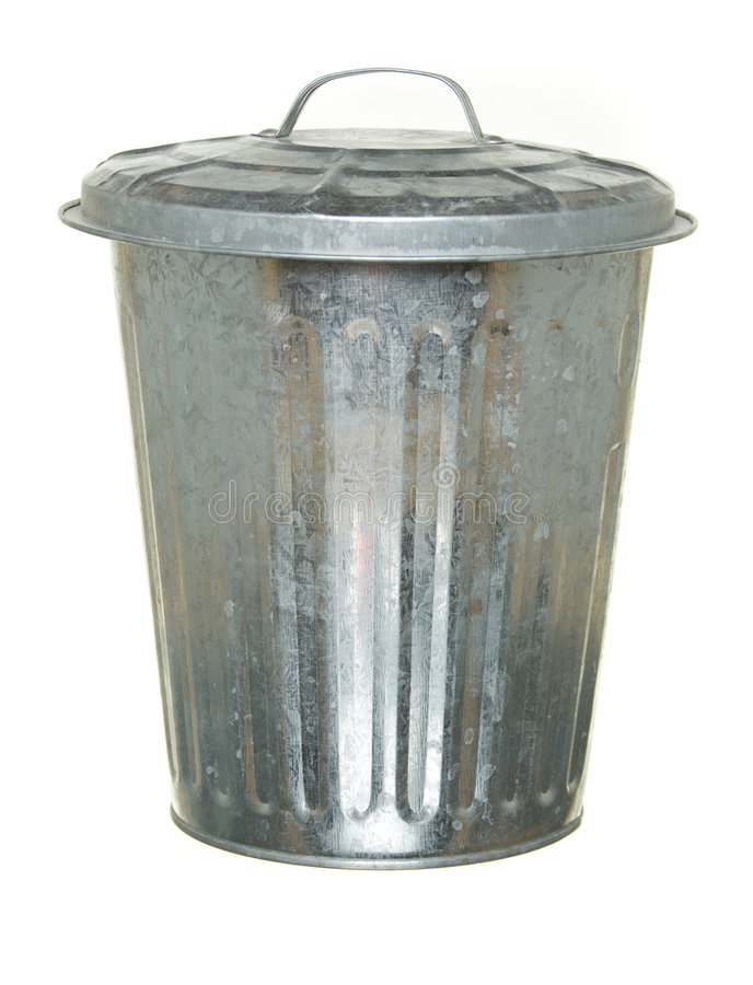 Download Trash can, lid on stock image. Image of clipping, metallic - 6566159