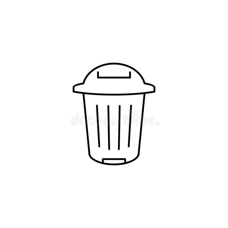 Trash can outline icon. vector illustration
