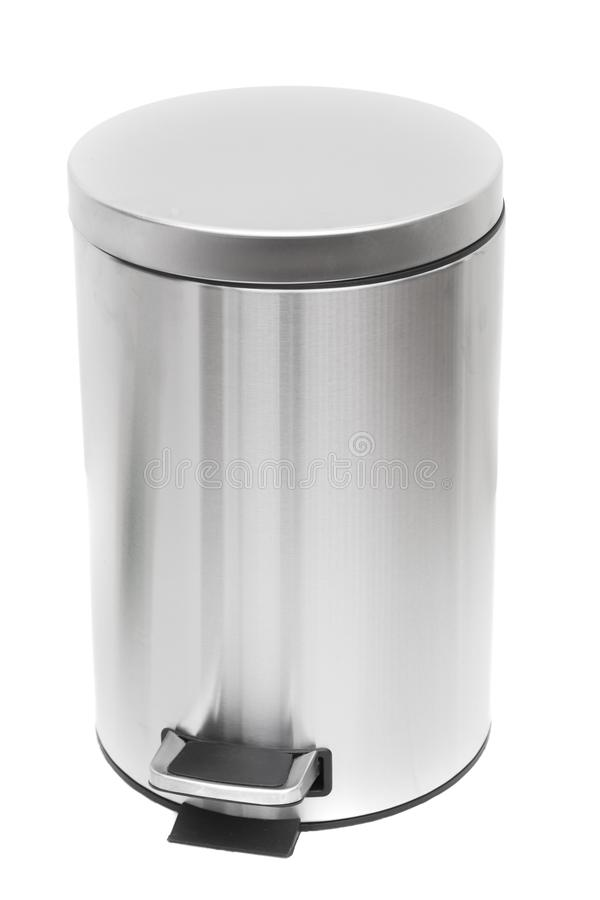 Trash can. Shot of Trash can on white stock image