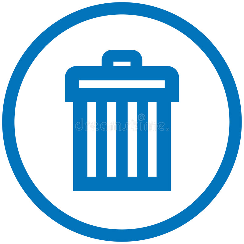 Trash can vector icon stock illustration