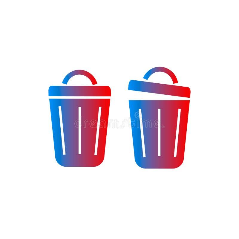 Trash can vector icon vector illustration
