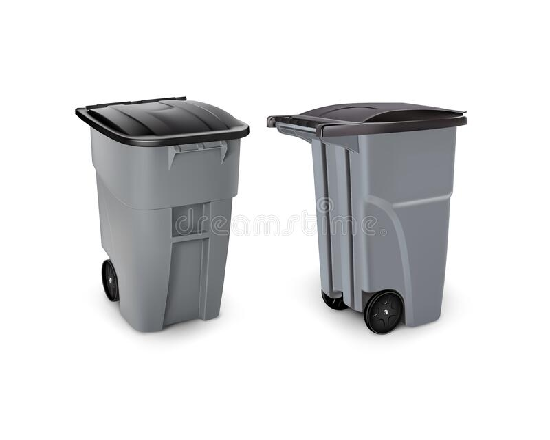 Vector image a garbage can royalty free stock images