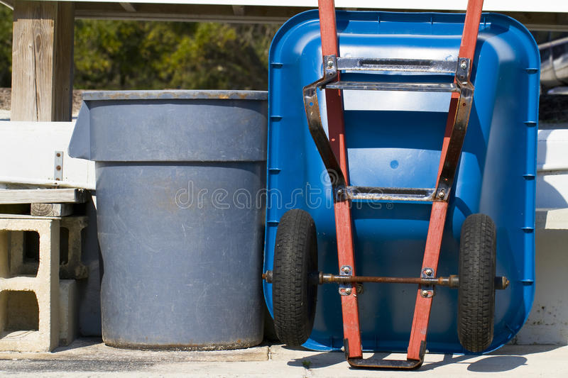 Download Trash Can and Wheel Barrel stock photo. Image of farming - 13296526