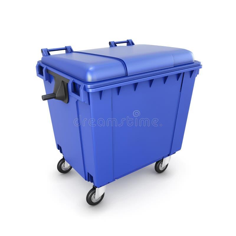 Trash can on wheels royalty free illustration