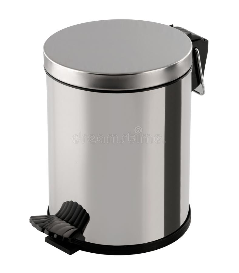 Trash Can,Metallic color royalty free stock images