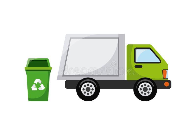 trash e recicle o projeto ilustração do vetor