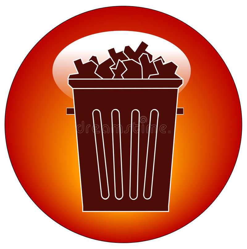 Download Trash icon or button stock vector. Image of dispose, icon - 4805201
