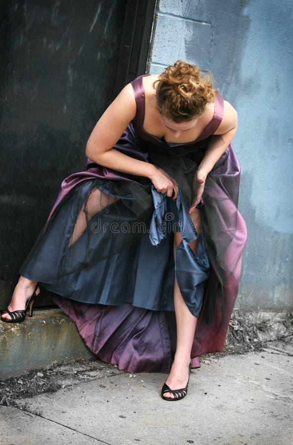 Trash il vestito fotografia stock