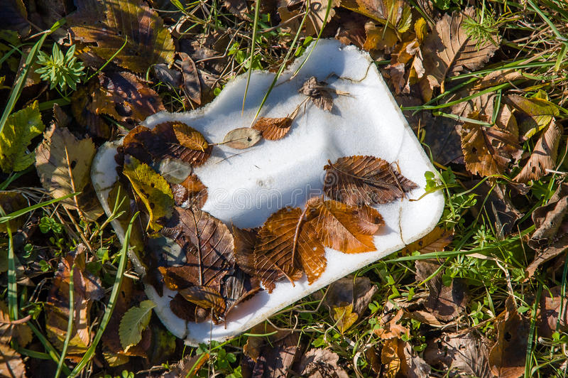 Trash in Nature. Too much trash in Nature left by disrespectful people stock photography