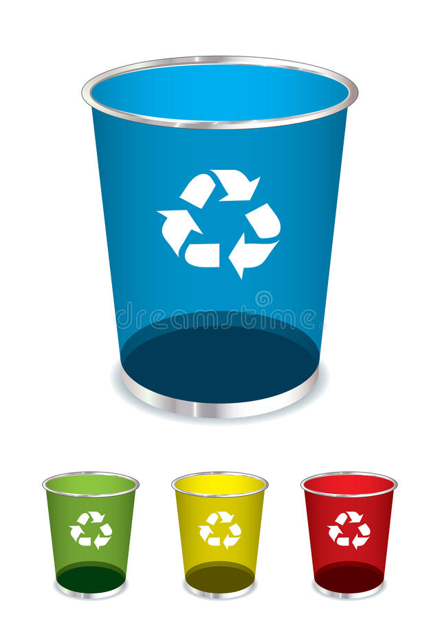 Download Trash recycle bin stock vector. Image of junk, recycle - 20231752