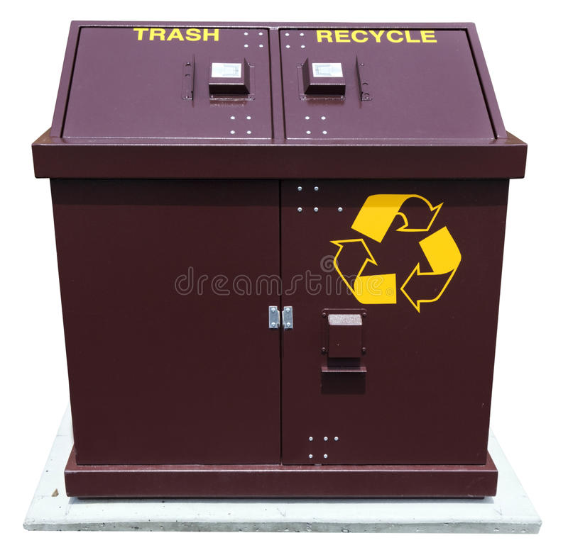 Trash and Recycle Bins stock photos