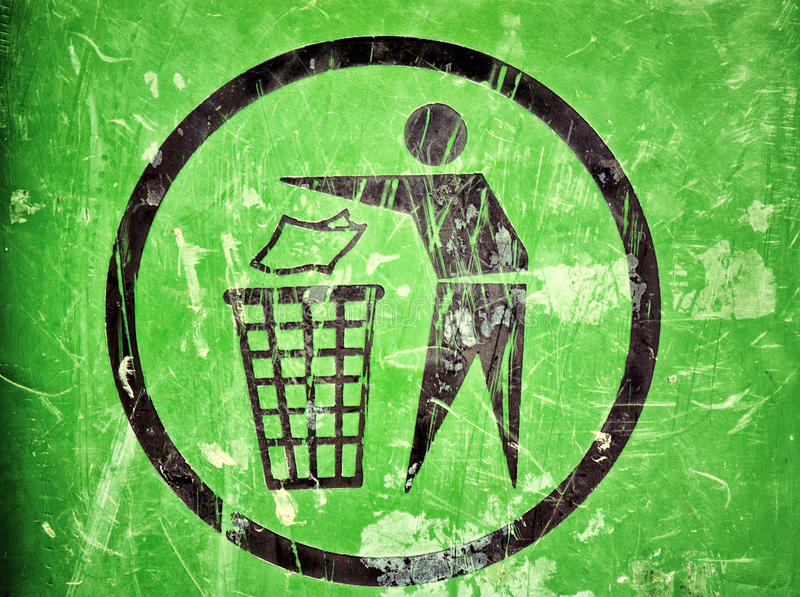 Download Trash sign stock image. Image of recycling, dump, conservation - 26116575