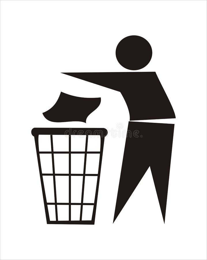 Download Trash Sign stock illustration. Image of littering, litter - 8340979