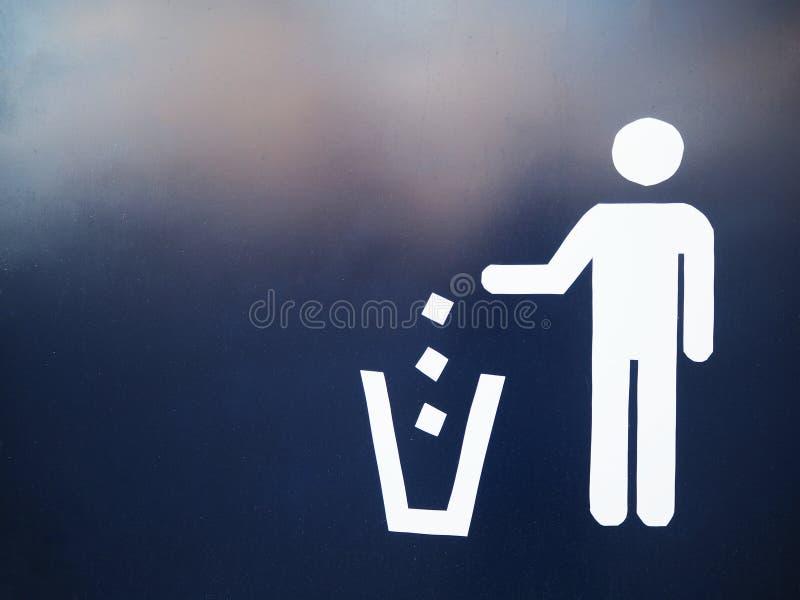 Trash sign royalty free stock photo