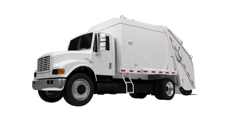 Download Trash truck over white stock illustration. Image of monster - 6724511