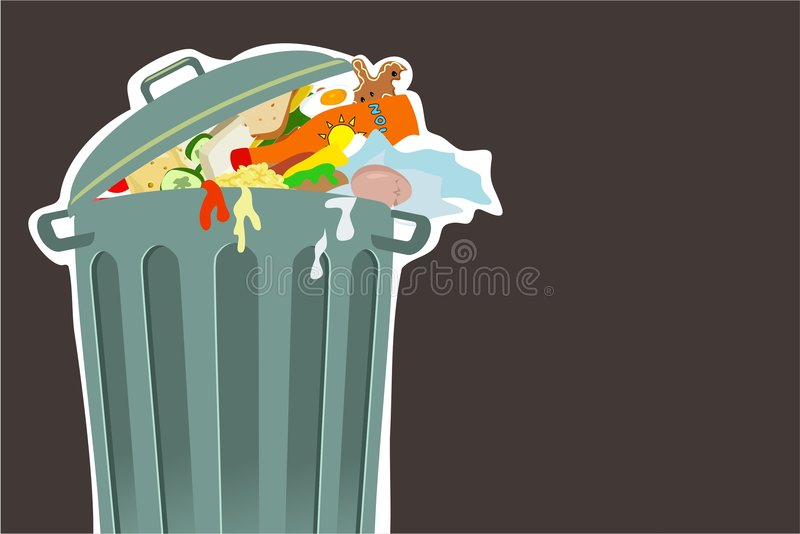 Trashcan illustrazione di stock